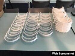 Máscaras fabricadas en FIU.