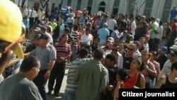 Imágenes de la protesta de cuentapropistas en Holguín