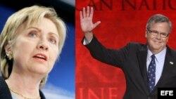 Hillary Clinton y Jeb Bush