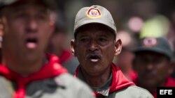 Miembros de la Milicia Bolivariana de Venezuela.