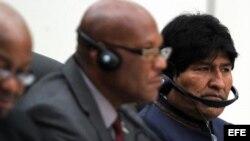 El presidente de Bolivia, Evo Morales asiste en La Habana a la cumbre del ALBA sobre el ébola
