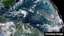 Vista satelital de Dorian. Foto de NOAA.gov