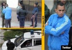 Operativo policial este 3 de enero frente a la sede de las Damas de Blanco, en Lawton, La Habana.