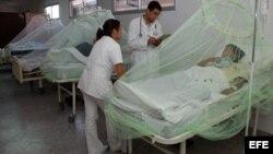 Fotografía de archivo de un grupo de pacientes que padecen dengue. EFE/Andrés Cristaldo