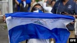 Policía ataca protesta contra Daniel Ortega el 29 de septiembre del 2018.