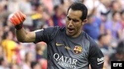 El portero chileno del Barcelona, Claudio Bravo.