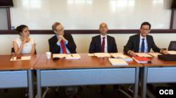 El panel en Georgetown University.