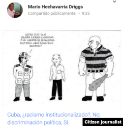 Reporta Cuba Caricatura publicada en el blog La Santanilla Mario Hechavarría