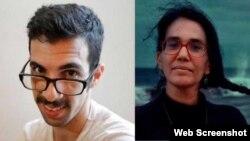 Combinación de fotografías de los periodistas cubanos Carlos Manuel Álvarez y Luz Escobar.