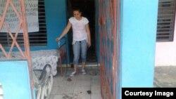 Vivienda de Arianna López Roque agredida