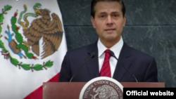 El presidente de México, Enrique Peña Nieto habla a la nación este miércoles