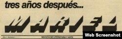"""Revista """"Mariel"""", detalles."""