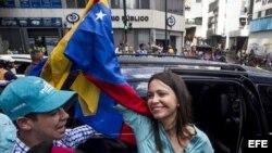 La líder opositora María Corina Machado dijo que había tratado de registrarse el lunes como candidata pero que su aplicación fue rechazada.