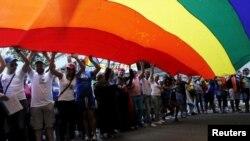 Manifestación en La Habana en el Día del Orgullo Gay.