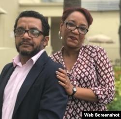 Luís Felipe Rojas y su esposa, la periodista Exilda Arjona