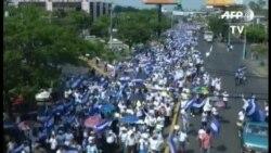 Miles de nicaragüenses marchan en Managua para pedir paz y justicia