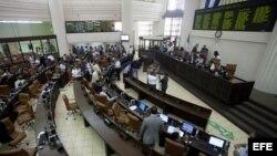 Vista general del Parlamento nicaragüense en Managua (Nicaragua), hoy, miércoles 6 de noviembre de 2013.