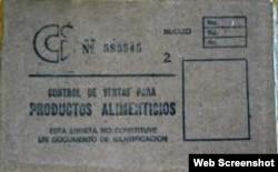 Libreta de Racionamiento especifica en su cubierta que no es documento de identificación.