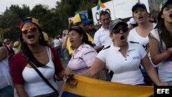 Manifestantes en San Cristóbal (Venezuela)
