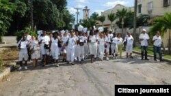 Reporta Cuba. Marcha del 8 de noviembre. Foto: Ángel Moya.