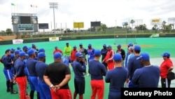 Equipo Cuba en Puerto Rico.