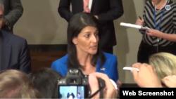 Nikki Haley, embajadora de EE.UU en la ONU