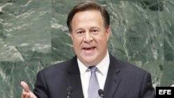 Juan Carlos Varela, presidente de Panamá, durante su intervención en la Asamblea Geenral de la ONU.