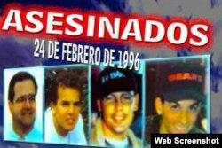 Pilotos de Hermanos al Rescate asesinados por Migs cubanos.