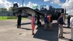 Un T-28 en el Wings Over Miami Air Museum