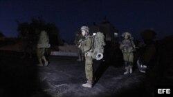 Soldados de Israel en busca de los tres adolescentes.