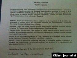 Iniciativa ciudadana, Urna Transparente.