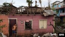 Casa afectada por el paso del huracán Matthew