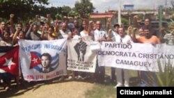 Reporta Cuba. Activistas Camagüey. Foto: Ángel Escobedo.