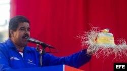 Nicolás Maduro en un acto de su campaña electoral en Catia La Mar (Venezuela).