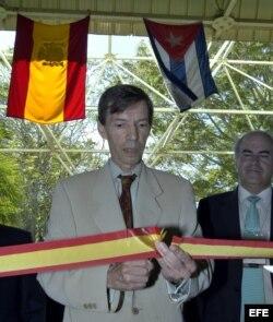 Carlos Alonso Zaldívar en uno de los actos que presidió como embajador español en Cuba.