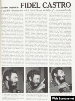 La entrevista a Fidel Castro publicada por Playboy.
