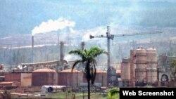 La planta de níquel de Moa, gestionada por Sherritt.