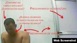 Parte del estudio pericial sobre una escena del video de la TV cubana que presenta a José Daniel Ferrer como un delincuente común. (Prisoners Defenders)