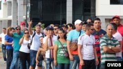 Cubanos varados en Panamá.