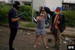 Estudiantes nicaragüenses se concentran en contra del régimen de Ortega
