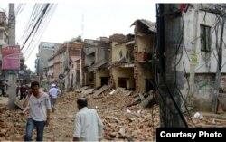 Lalitpur, un suburbio de Katmandú, después del sismo.