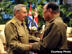Raúl Castro recibe en La Habana al jefe del EMG de Corea del Norte