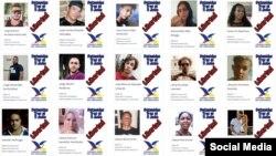 Detenidos el 11 de julio. (Fotos publicadas en Facebook por Cubanos Libres en Uruguay)