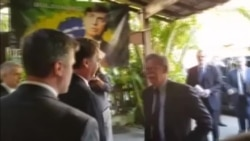 Bolsonaro recibe a Bolton en su residencia en Brasil
