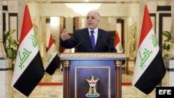 Fotografía del primer ministro iraquí designado, Haider al Abadi