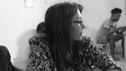 Iliana Hernández, durante la huelga de hambre en la sede del MSI. (Foto: Katherine Bisquet)
