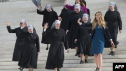 Hermanitas de los Pobres en la Corte Suprema en el 2016. (Archivo)