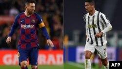 Lionel Messi y Cristiano Ronaldo en un montaje fotográfico (Josep Lago y Miguel Medina / AFP).