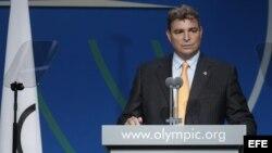 Foto de archivo de Antonio Castro, cuando hablaba durante la 125 sesión del Comité Olímpico Internacional (COI) el 8 de septiembre de 2013, en Buenos Aires (Argentina).