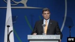 Antonio Castro, durante la 125 sesión del Comité Olímpico Internacional, en Argentina. Archivo.